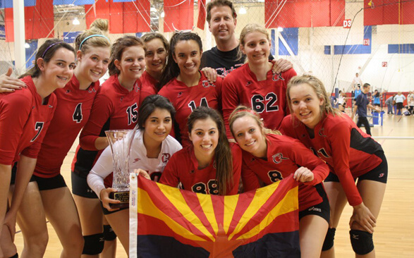 A Club Volleyball Team in Arizona Celebrates a Tournament Victory