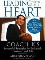 book cover for leading with the heart by Coach K