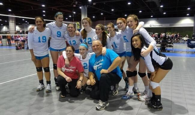 Carolina Select Volleyball Club team photo at a recent tournament.