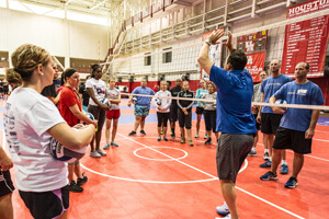 Chris McGown talks setting at a recent Gold Medal Squared Coaches Clinic