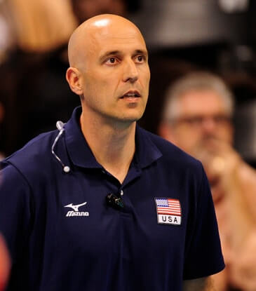 John Speraw coaching volleyball for the USA Men's National Team.