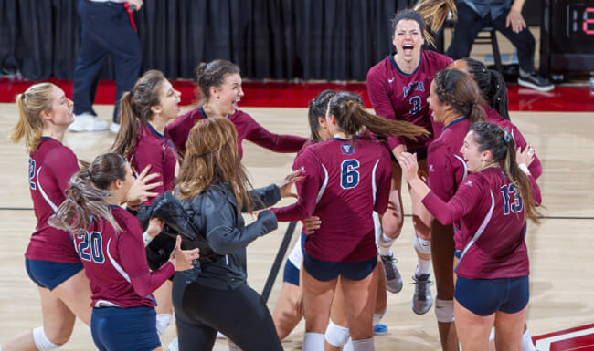 LMU Women's volleyball team