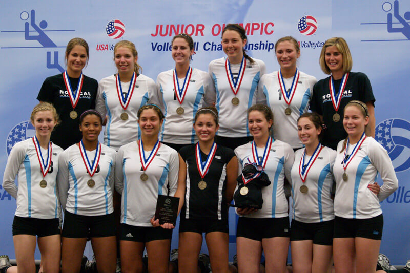 nor-cal volleyball club celebrates at junior nationals