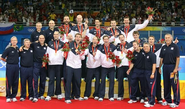 The 2008 Olympic Men's Volleyball Team wins Gold.
