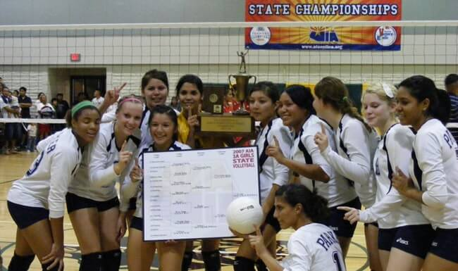 Parker High School wins the Arizona Volleyball Championship