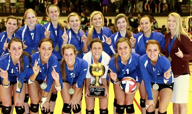 Trinity Christian High School wins the Volleyball State Championship in the state of Texas.