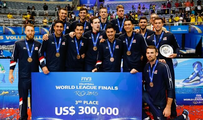 The USA Men's Volleyball team wins Olympic Bronze in Rio.